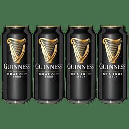 4x Cerveza Irlandesa Guinness Draught Stout 440cc