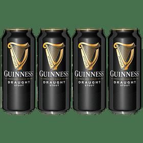 "4x Cerveza Irlandesa Guinness Draught Stout 440cc"""