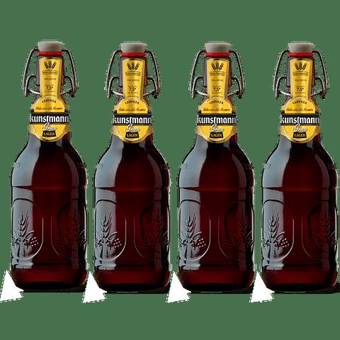 4x! Cerveza Kunstmann Gran Lager 500cc