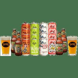 """"""" Pack Festival BeerSquare - 20x Cervezas IPAS EEUU + 2Vasos """""""
