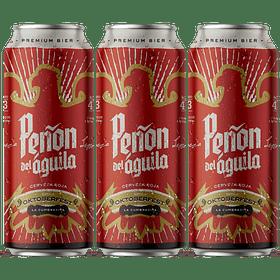 """ Aguante Marzo - 3x Peñón del Águila Roja Oktoberfest, lata 473cc """