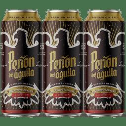 """ Pack Festival BeerSquare - 3x Peñón del Águila Negra Schwarzbier, lata 473cc """
