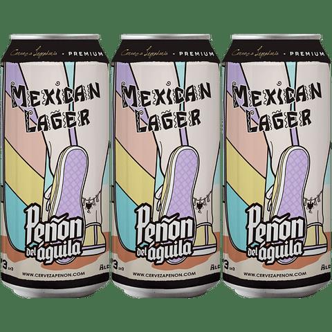 3x Peñón del Águila Mexican Lager lata 473cc