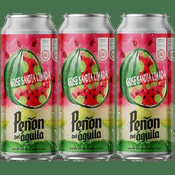 """ Pack Festival BeerSquare - 3x Peñón del Águila Gose Sandía Limada, lata 473cc """
