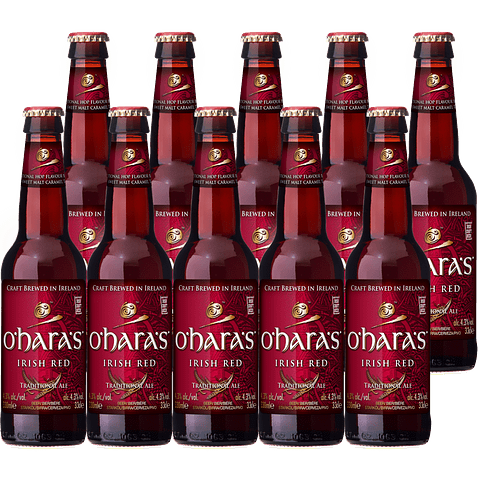 10x O´Hara´s Red Ale Botella 330cc