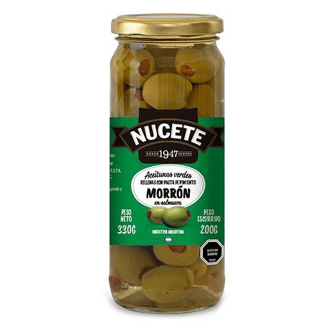 Aceitunas verdes Nucete rellenas con pasta de pimiento morrón
