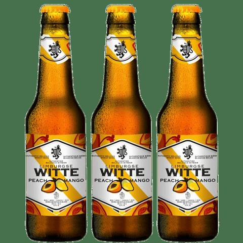 ¡Volvieron los Belgas! 3x Witte Peach & Mango botella 330cc