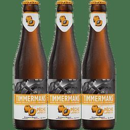 ¡Volvieron los belga! 3x Timmermans Peche Lambic botella 250cc