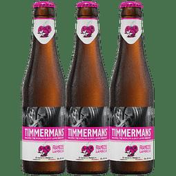3x Timmermans Framboise Lambic botella 250cc