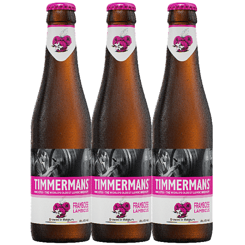 """3x Timmermans Framboise Lambic botella 250cc"""