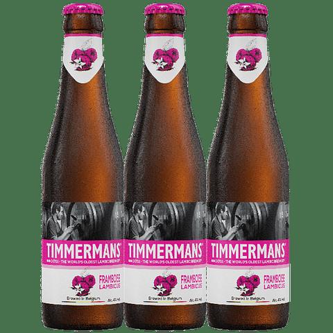 ¡Volvieron los Belgas! 3x Timmermans Framboise Lambic botella 250cc