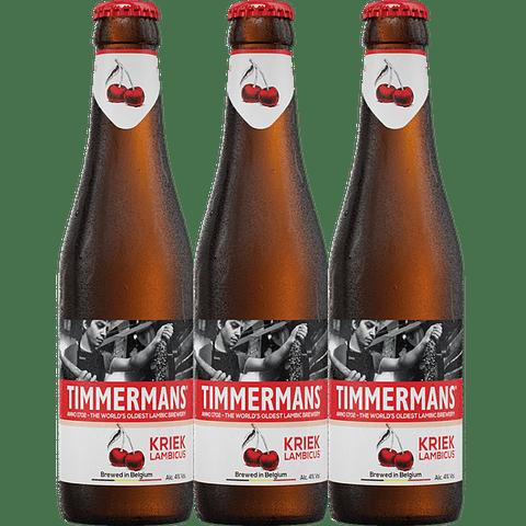 3x Timmermans Kriek Lambic botella 250cc