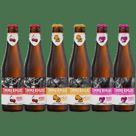 ¡Volvieron los Belgas! Pack Timmermans Frutales Variedades 6x 330cc