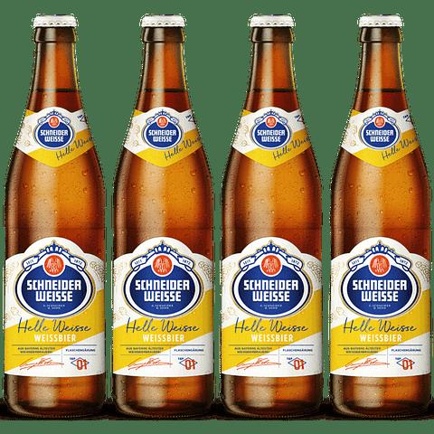 4x Cerveza Schneider Weisse Tap 1 Helles 500cc