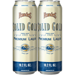 2x Founders Solid Gold, Big lata 19,2oz (567)