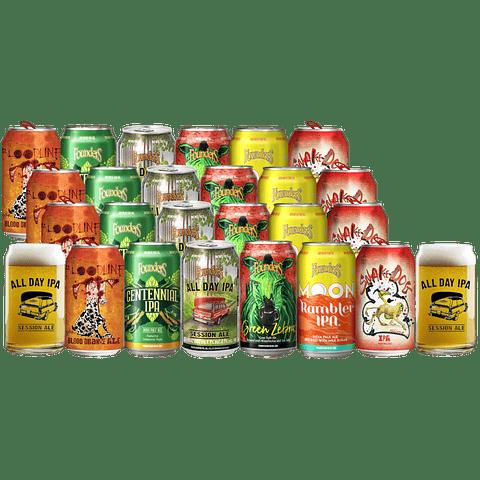 24x Cervezas Americanas Founders y Flying Dog latas 355cc + 2Vasos Lata Regalo