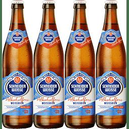 4x Schneider Weisse Tap 3 Alkoholfrei, botella 500cc