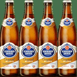 4x Schneider Weisse Tap7 Original, botella 500cc