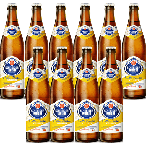 10x Schneider Weisse Tap1 Helle Weisse, botella 500cc