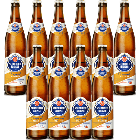 10x Schneider Weisse Tap7 Original, botella 500cc