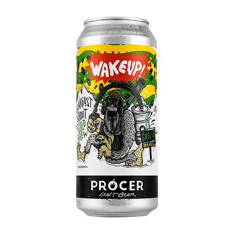 Prócer Wake up - Breakfast Stout + Cold Brew de Café Brasileño - lata 473cc