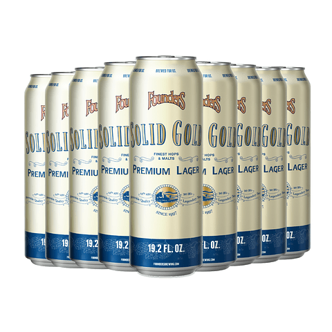 10x Founders Solid Gold, Big lata 19,2oz (567)