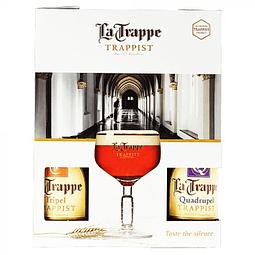 Pack Regalo La Trappe Copa + 4 botellas 330cc
