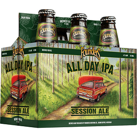 6x! Cerveza Founders All Day Ipa 355cc