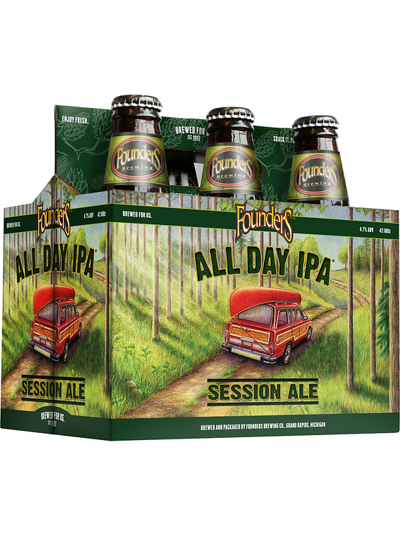 Founders All Day Ipa - Pack 6 Bot. 355ml