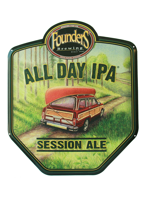 Letrero Metálico Founders All Day IPA
