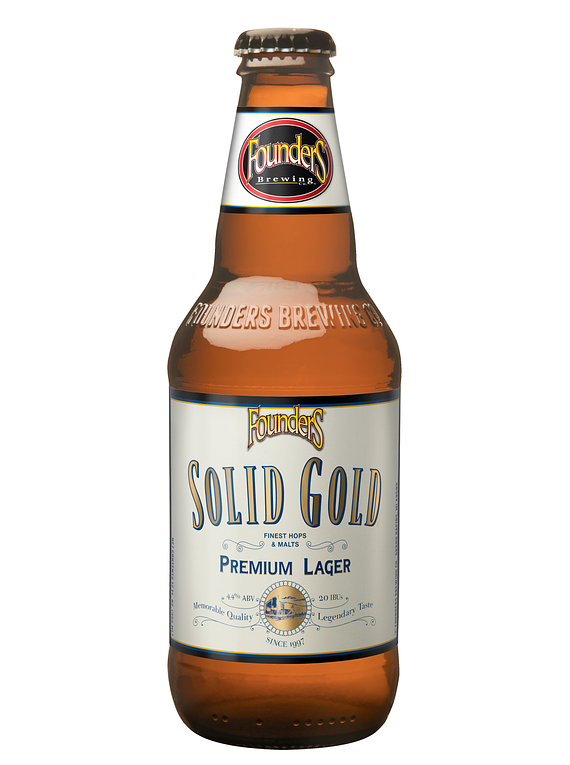 Cerveza Founders Solid Gold botella 355cc
