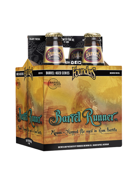Founders Barrel Runner Pack 4 Bot 355ml