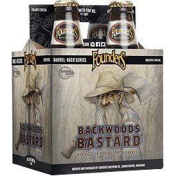 Pack Cervezas Founders Backwoods Bastard 4 botellas 355cc