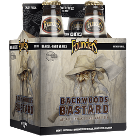 Pack Cervezas Founders Backwoods Bastard 4 botellas 355cc