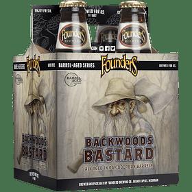 4x Founders Backwoods Bastard botella 355cc