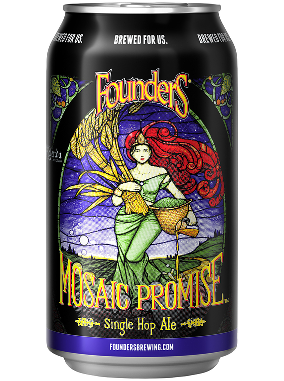 Founders Mosaic Promise Single Hop IPA - Lata 355ml.