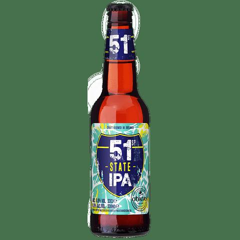 "Cerveza O'Hara's ""51st State IPA"" botella 330cc"
