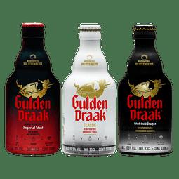 3x Cerveza Belga Gulden Draak Variedades 330cc