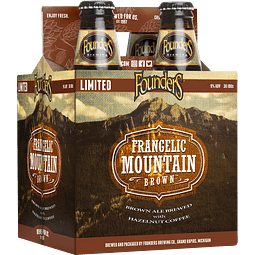4x! Cerveza Founders Frangelic Mountain Brown 355cc