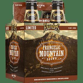 4x! Cerveza Founders Frangelic Mountain Brown 355cc