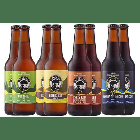 8x! Cerveza Artesanal Tropera Variedades 330cc