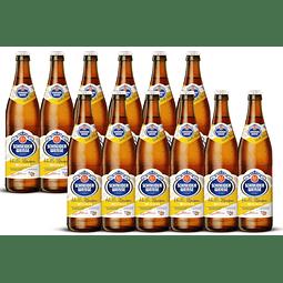 12x cervezas Schneider Weisse Tap1 Helles botella 500cc