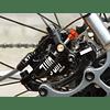 JUIN TECH X1 - KIT FRENO DE DISCO HIDRAULICO ACCIONADO POR CABLE - PM - PASTILLAS Y DISCOS CON DIFUSORES DE CALOR – PARA RUTA/CX/GRAVEL - BLACK