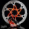 JUIN TECH X1 - KIT FRENO DE DISCO HIDRAULICO ACCIONADO POR CABLE - PM - PASTILLAS Y DISCOS CON DIFUSORES DE CALOR – PARA RUTA/CX/GRAVEL - NARANJA