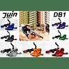 JUIN TECH DB1 - KIT DE FRENO P/MTB - FULL HIDRAILICO - 2 PISTONES - DISCOS 180MM (de acero Japones) - ROJO