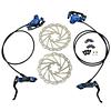 JUIN TECH DB1 - KIT DE FRENO P/MTB - FULL HIDRAILICO - 2 PISTONES - DISCOS 180MM (de acero Japones) - AZUL