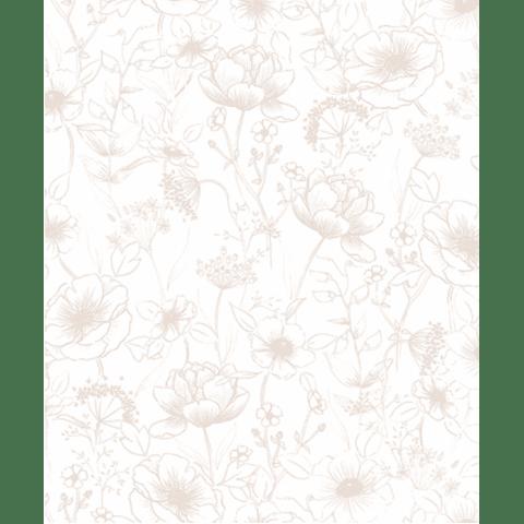 Papel de parede - Botany Rosa