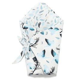 Swaddle Blanket - Blue Birds
