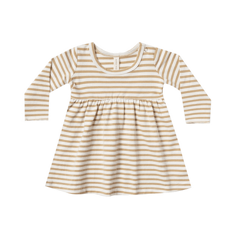 Baby Dress - Honey Stripe