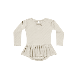 Skirted Onesie - Pebble